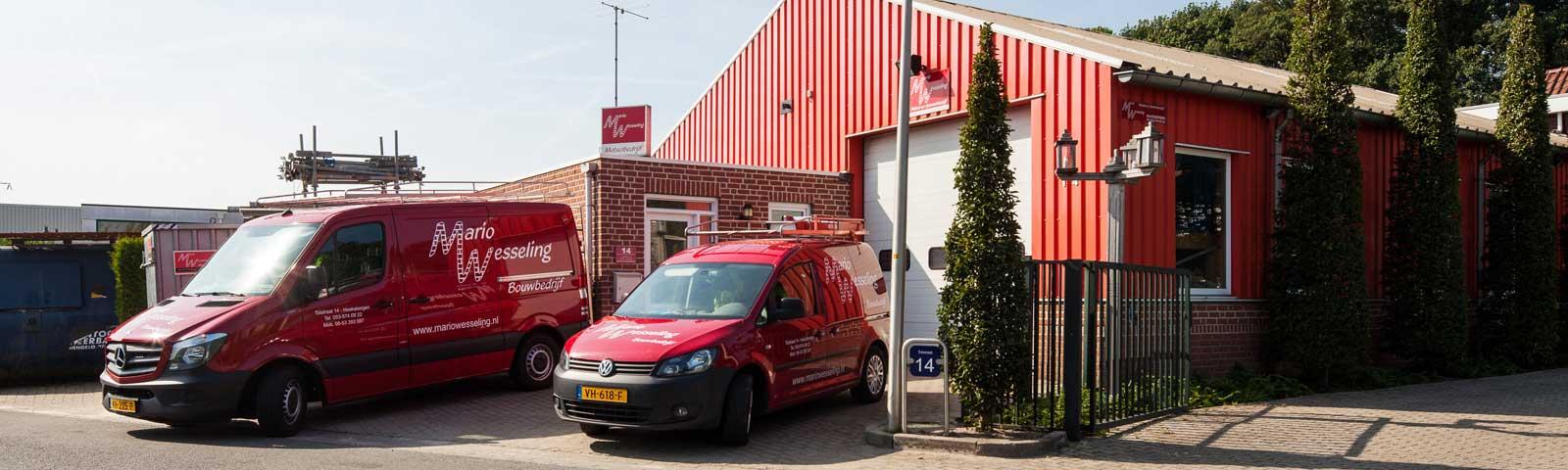 Bouwbedrijf Haaksbergen voorkant gebouw Mario Wesseling