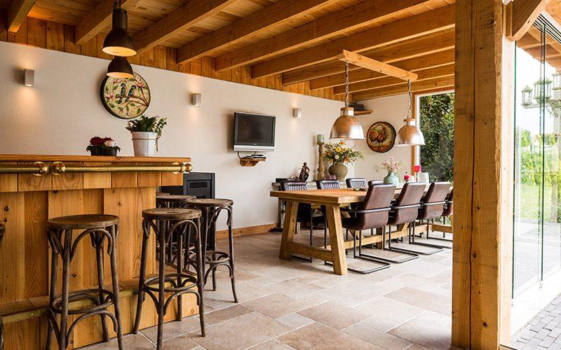 terrasoverkapping aanbouw bar