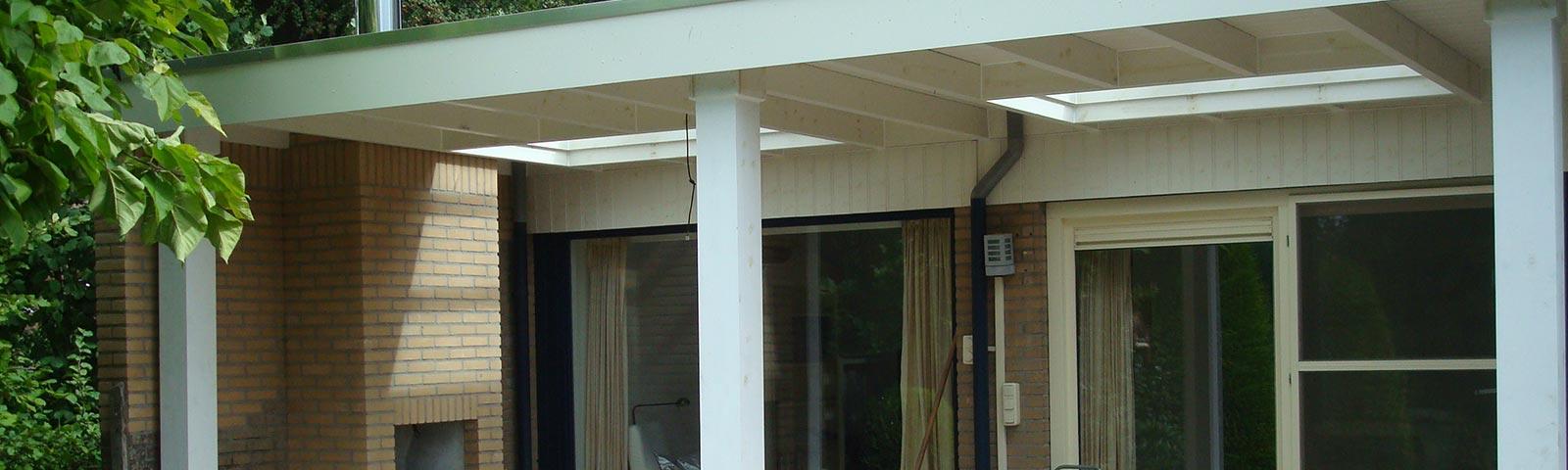 Een terrasoverkapping door bouwbedrijf Hengelo